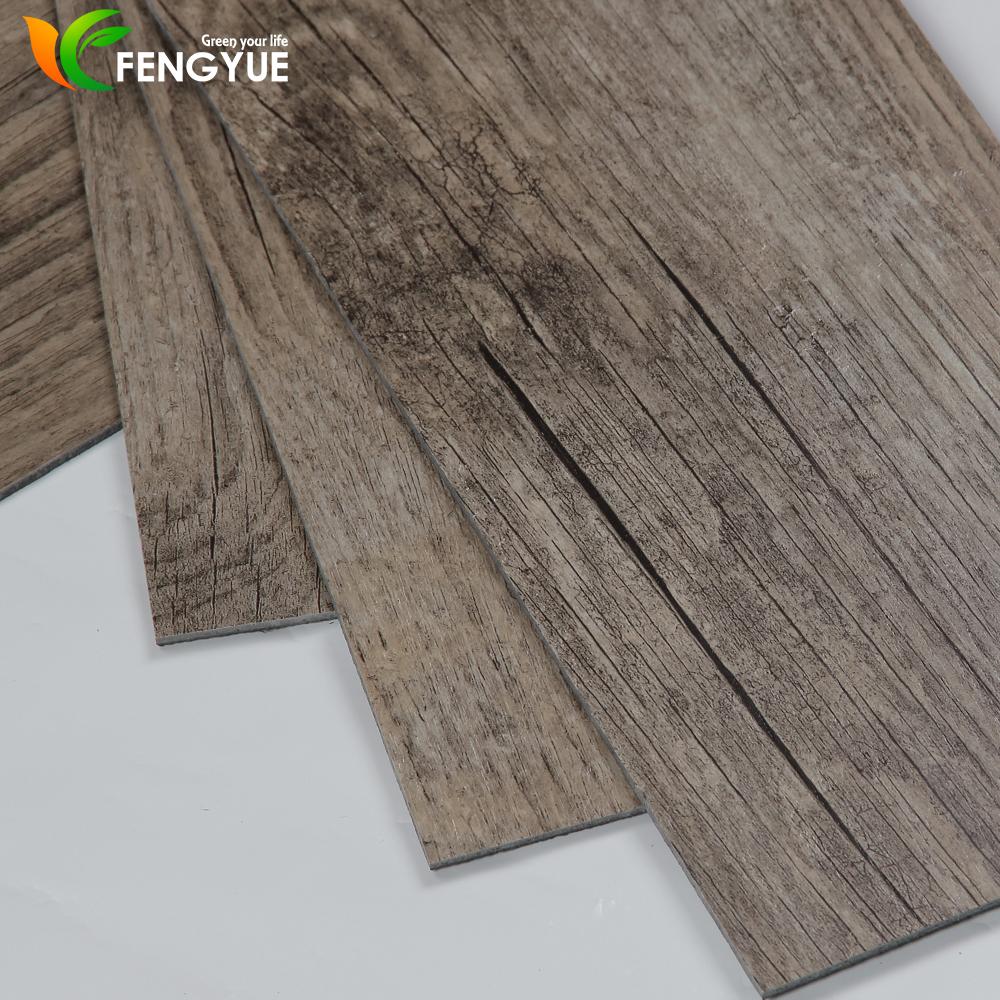 Anti Fouling Hickory Shaw Laminate Pvc Luxury Vinyl Flooring Tiles