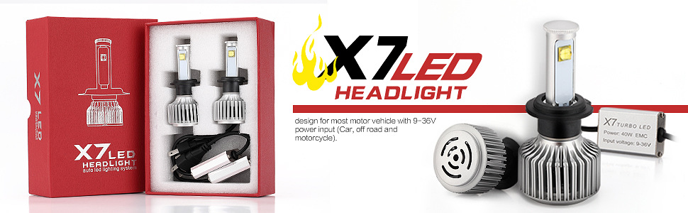 EURS newest 80W dual Car auto headlights led