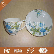 S/6 90cc thin porcelain cup and saucer in gift box
