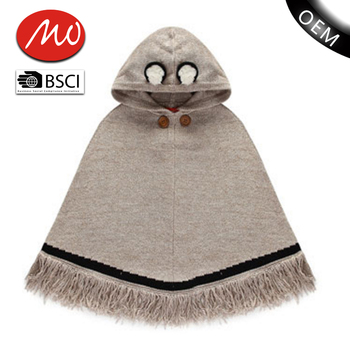 Fancy Baby Knit Pattern Sweater Design Rabbit Poncho For Girls Buy