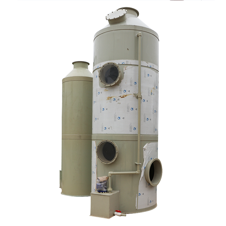 Chimica acido fumi fumo scrubber attaccato purificazione torre sistema