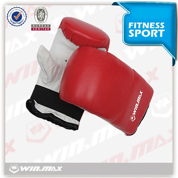 PU mold inside red/black color junior boxing gloves with cheap price