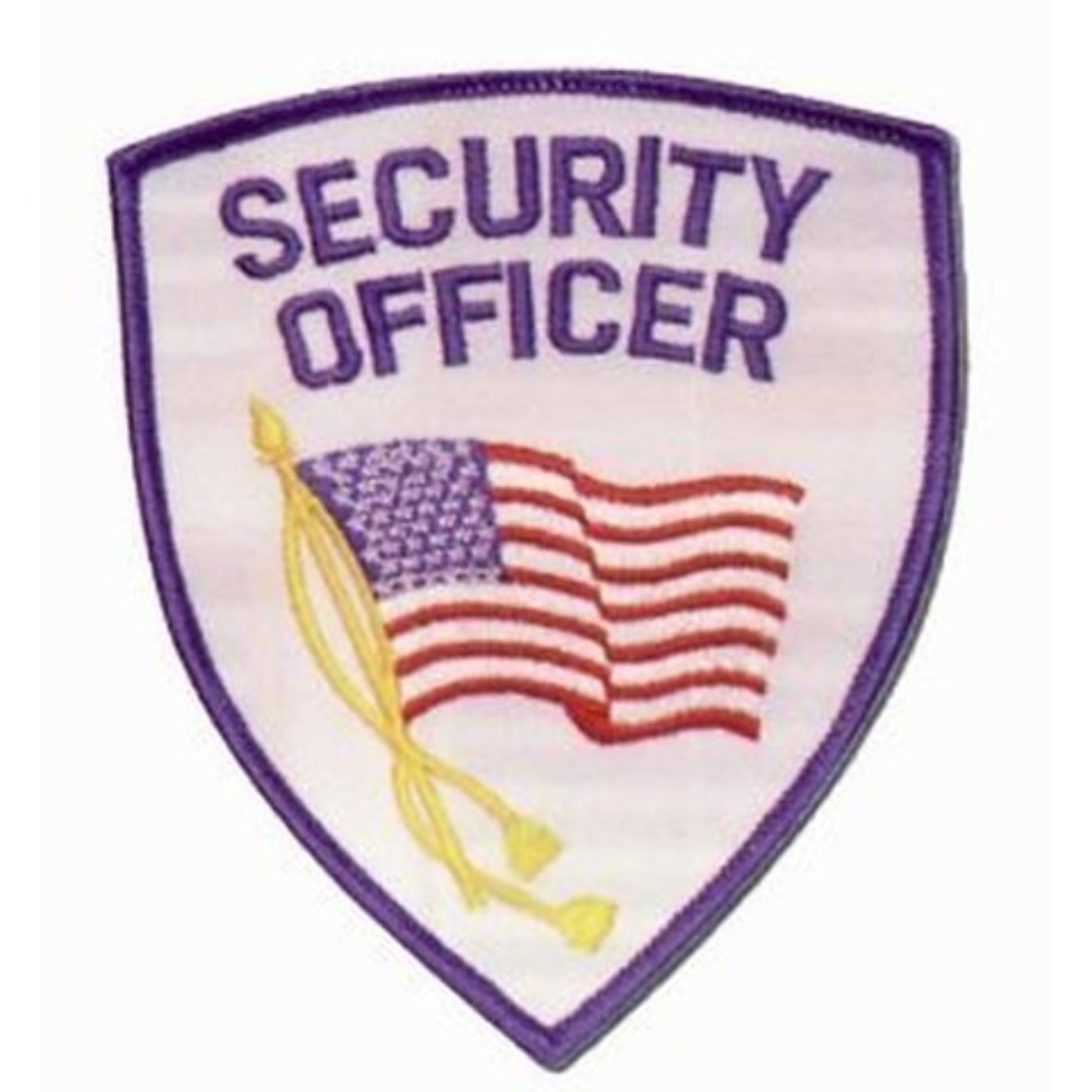 "SECURITY OFFICER Guard American Flag Shoulder Uniform Patch Emblem Insignia 4"" x 3-3/4"" (2 Patches Included, Pair !)"