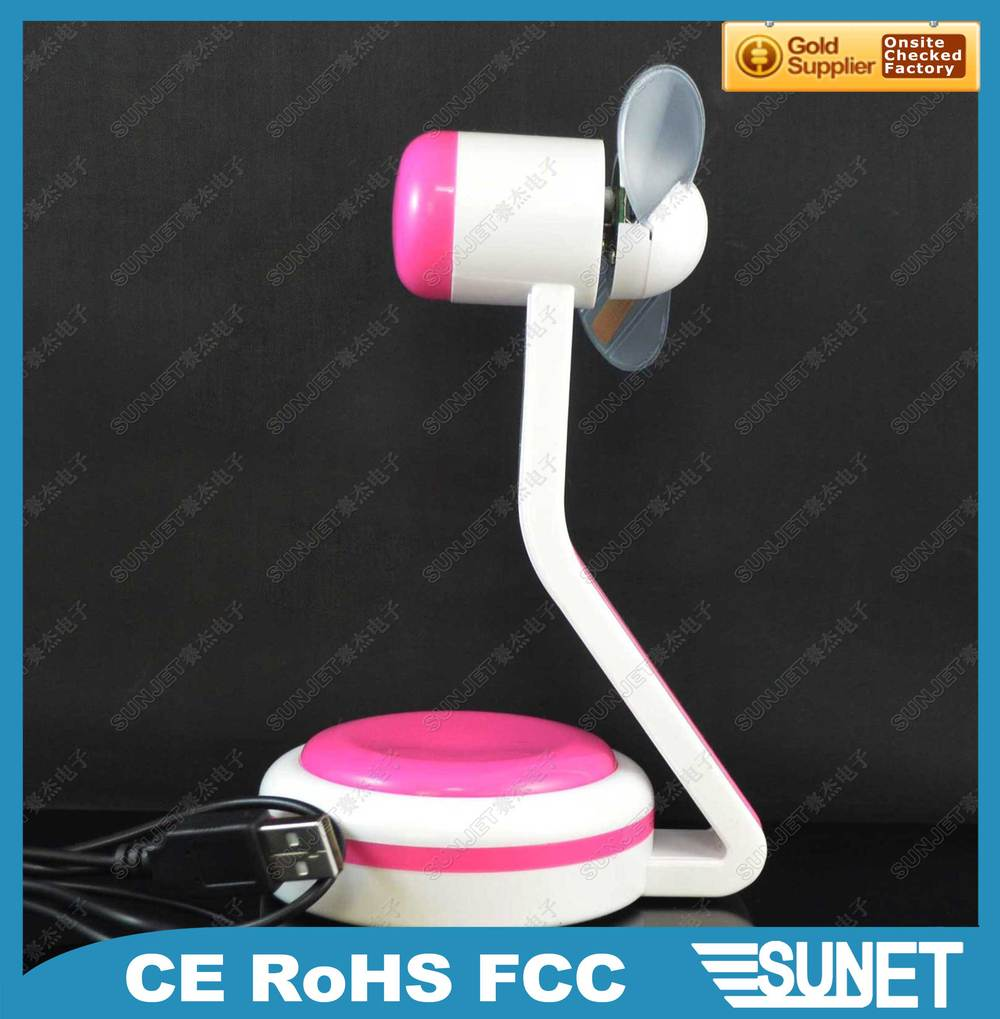 SUNJET Best Selling Item 2019 New Product Portable Flashing Table Fan Parts