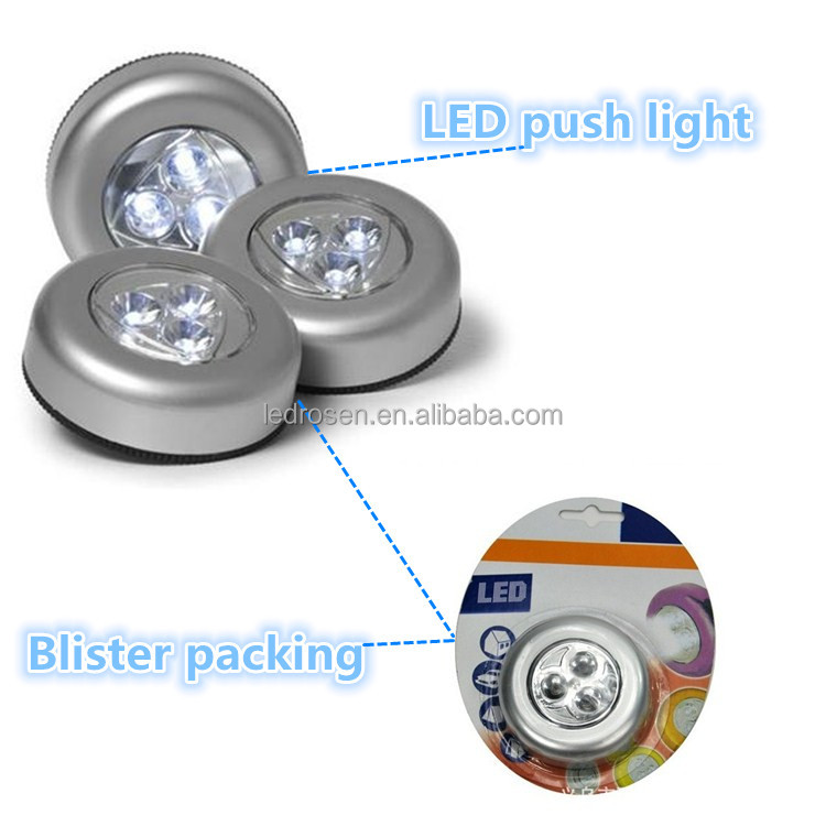 high quality bright battery operated 3 leds small push light car dome light buy dome light. Black Bedroom Furniture Sets. Home Design Ideas