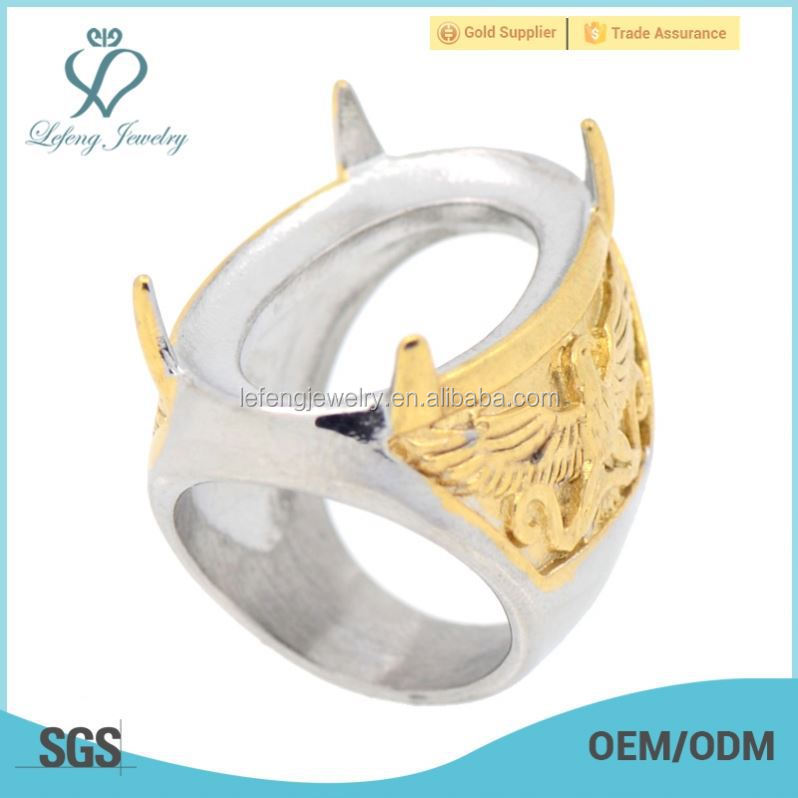 indonesia modis batu gold ring for mens stainless steel fashion finger ring base