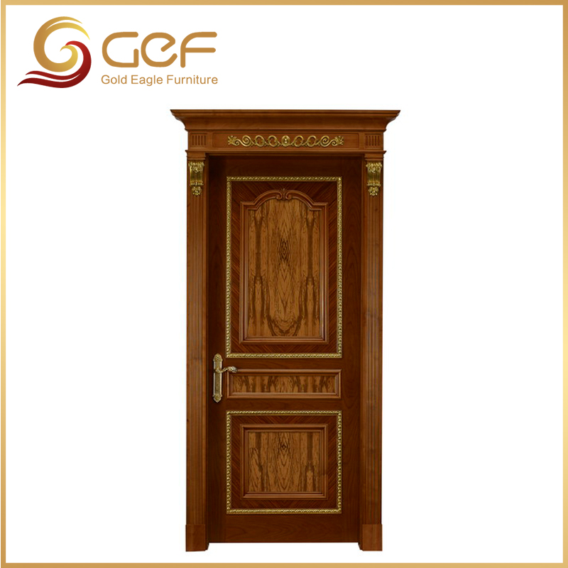 Hoja de oro dormitorio puerta de madera dise os puertas for Puertas de madera para dormitorios
