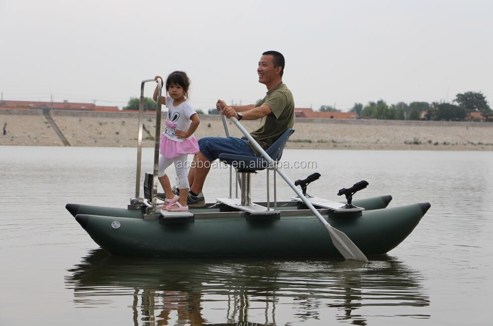 One person inflatable pontoon fishing boats buy one for Inflatable pontoon boat fishing