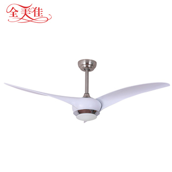 Energy saving decorative cool white color remote control ceiling fan with 12w led light