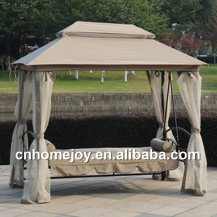 Luxurious Patio Bed Swing Chair Roof Swing Bed Modern Outdoor Swing