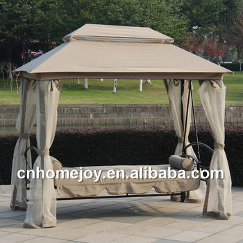 Luxurious Patio Bed Swing Chair Roof Swing Bed Modern Outdoor