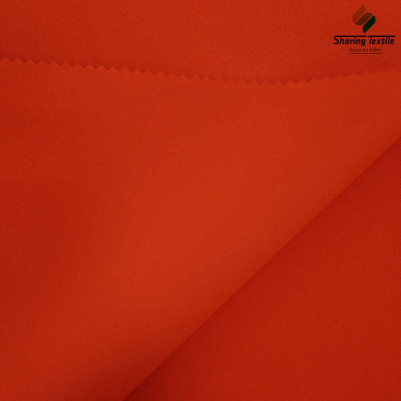 High Visibility Fluorescent Tricot Fabric /Fluorescent Fabric for Coverall/75D Fluorescent Fabric for Vest