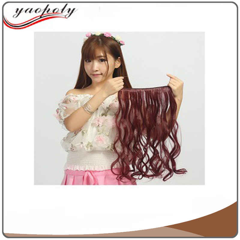 Hot selling high quality thick bottom 120g remy hair fashon easy to wear easy to remove double drawn halo hair extension