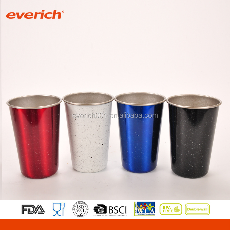 colorful 16oz new type single wall stainless steel skinny tumbler