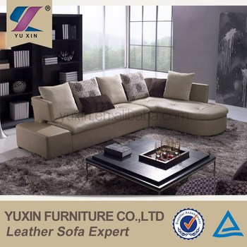 American Style Leather Recliner Sofa Foshan L Shape Upholstery