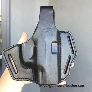 Full Grain Leather Right-Handed Cop 3 Slot Holster for H&K USP Taurus PT111