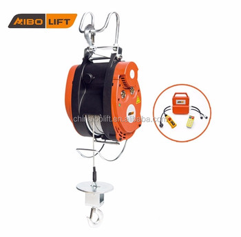 Wire Rope Sling Electric Winch With Remote Control For Scaffolding - Buy  Electric Wire Rope Hoist,Electric Winch,Winch Scaffolding Product on
