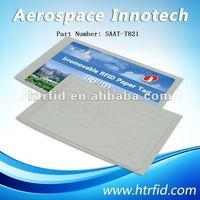 passive rfid sticker tag vehicle windshield, Irremovable Paper UHF RFID tag, 860-960MHz, Passive