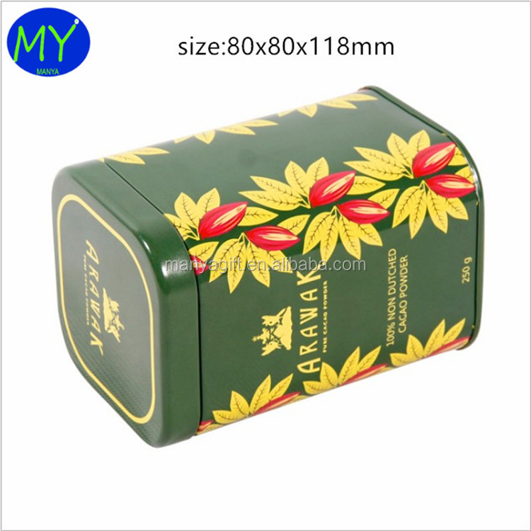 The best European brand rectangular metal tea packing window tin box for promotion