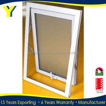 Bathroom Window Handle anti-theft aluminium cladding upvc pull-push awning windows double