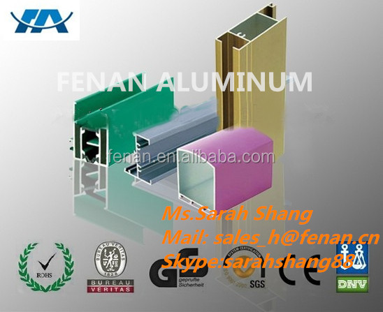 Aluminium accessories for door and window roll in nut