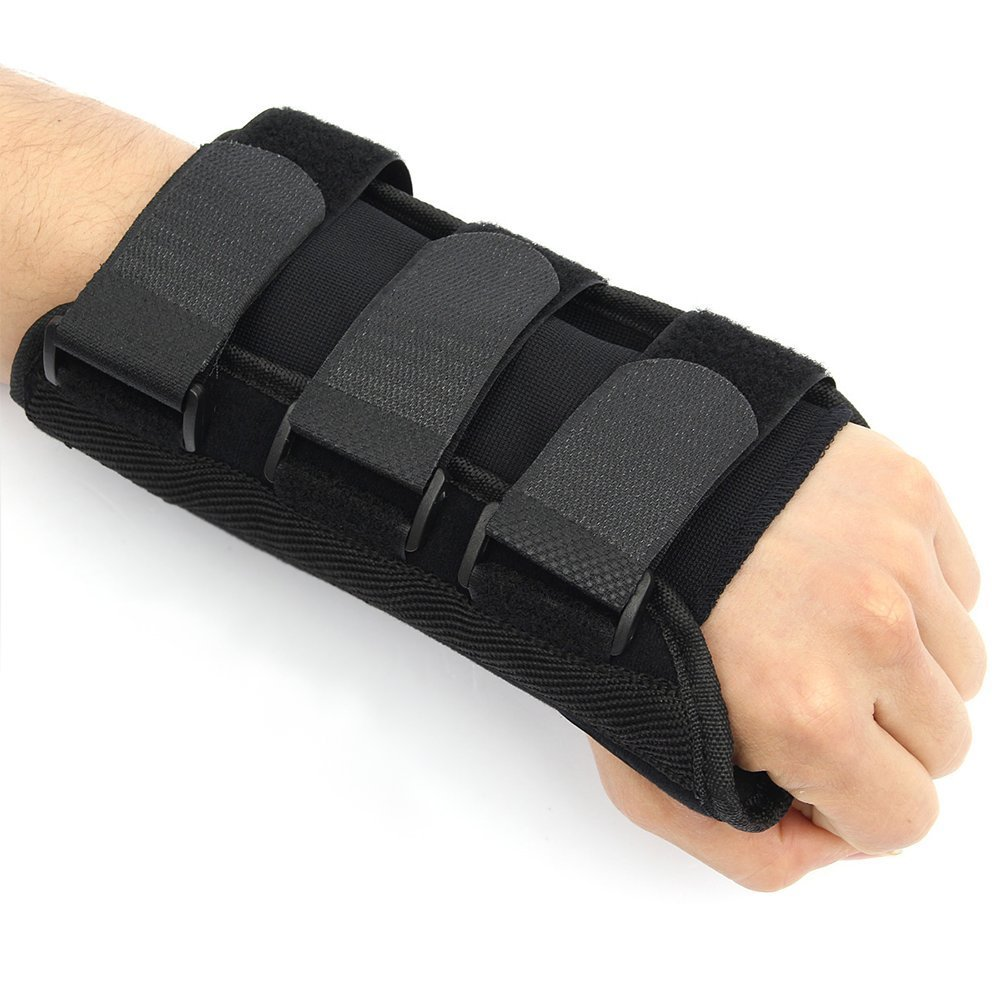 Carpal Tunnel Wrist Brace with Splints, Wrist Support Brace for Carpal Tunnel Arthritis Tendonitis Sports Injuries Wrist Sprains, Comfortable Breathable Left Hand Night Support Wrist Brace