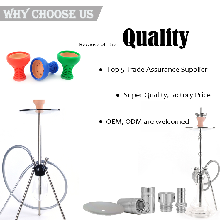 Hookah Accessoires Glass Hookah Stainless Steel In The Stock