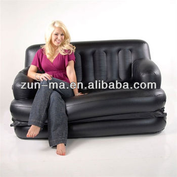 China Factory Inflatable 5 In 1 Air Sofa Bed Pvc Blow Up Folding