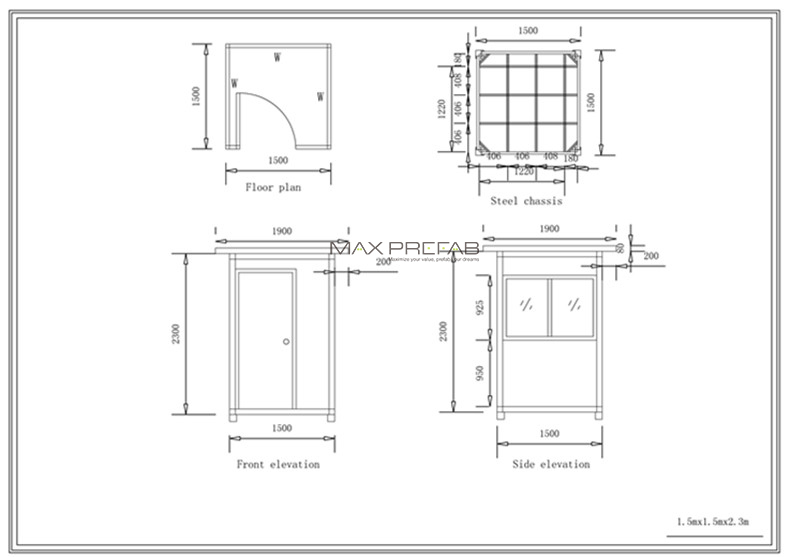 fascinating security guard house floor plan photos best