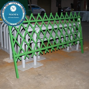 green powder coated eco friendly bamboo fence panels