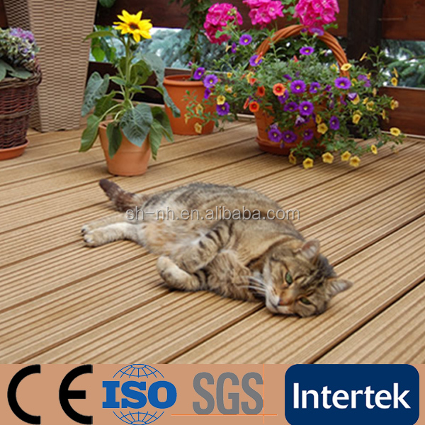 Anti-uv Outdoor Solid Wood Plastic Composite Decking Floor