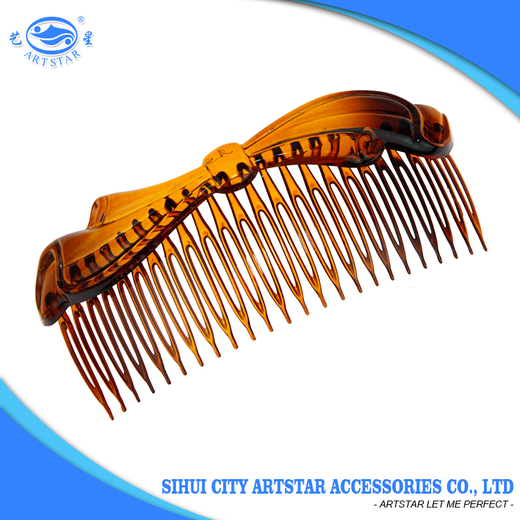 Wholesale decorative bow hair side combs