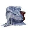 100% Polyester solid plain yarn dyed flannel fleece blanket