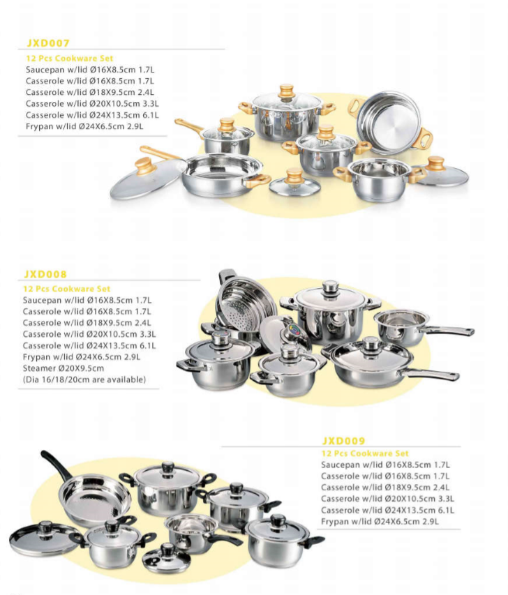 Hot sales 10-Piece Multi-Ply Clad Cookware Sets