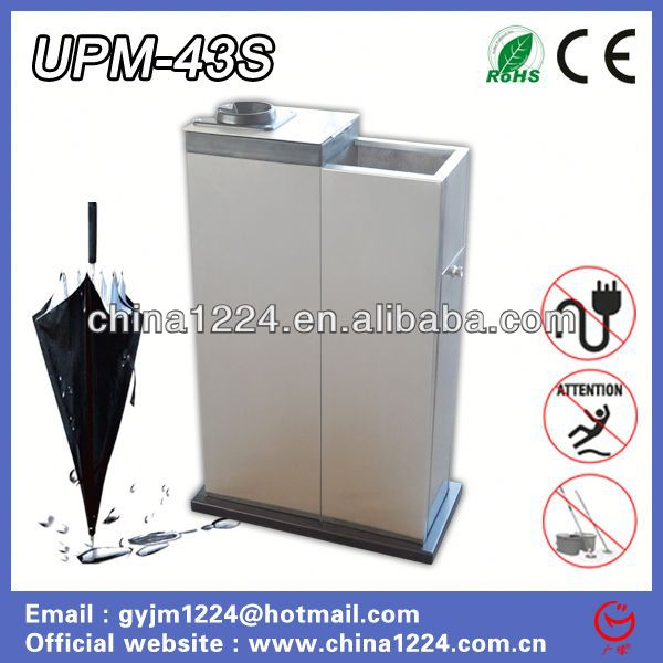 New umbrella base plastic insert Wet Umbrella Wrapping Machine with recycling bin