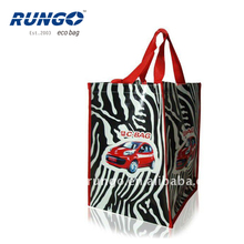 Whole Zebra Print PP Woven Material Shopping Bag
