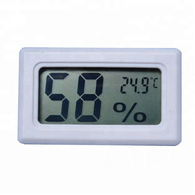 Cleveres Design Mini Digital Thermo Hygrometer mit LCD-Anzeige aus ABS-Kunststoff