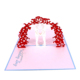 Chinese Luxurious Laser Cut 3D Pop-up Wedding Invitation Card