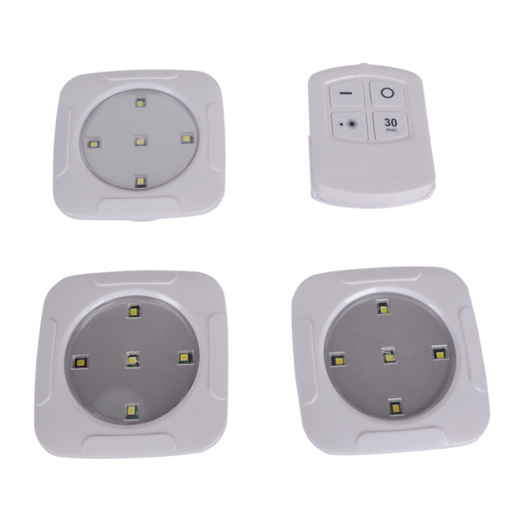 ZHR 3 Pack 3*AAA battery operated Tap night Light 5 LED remote control night light
