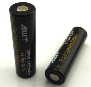 AWT 18650 battery for sx350j chip 3400mah mod 18650 battery awt 18650  battery for sx350j chip sx350 mod focus vape vaporizer