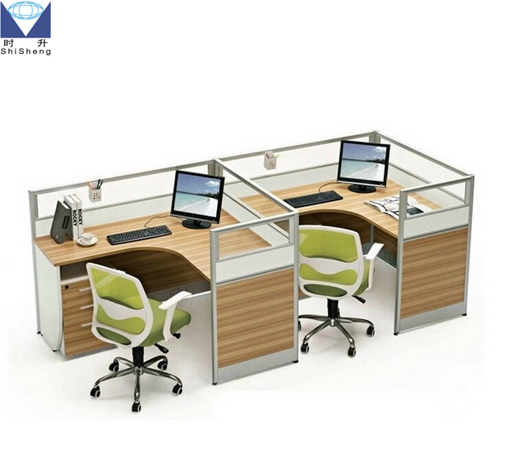 Customizable modern 4 seat office workstation cubicle