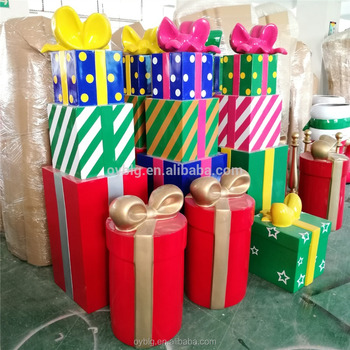 large outdoor christmas decorations gift boxes gift stack christmas holiday decoration