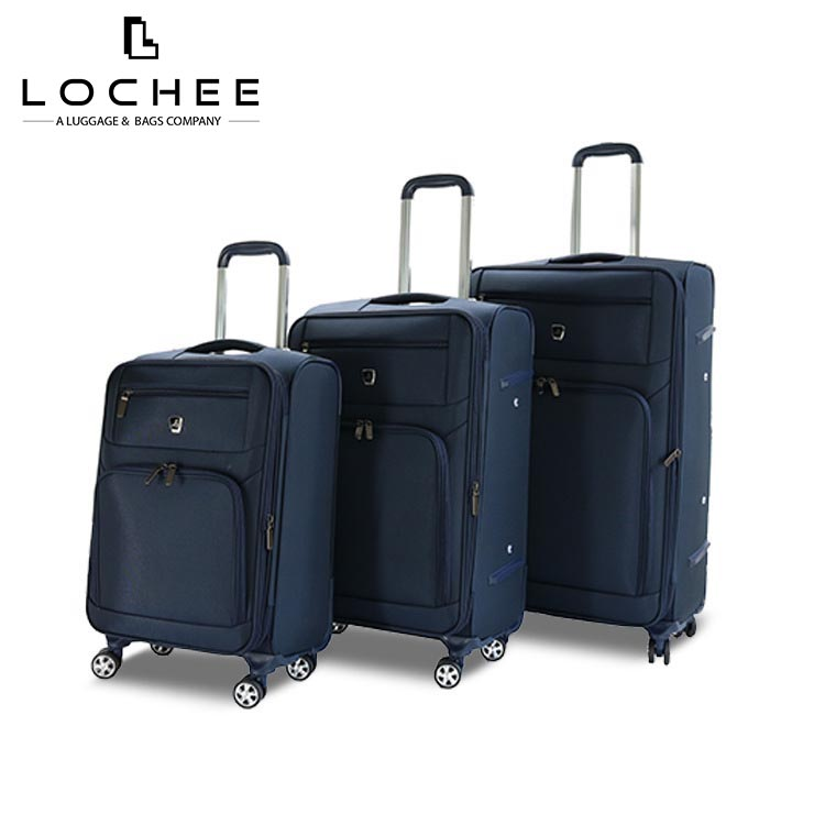 3 Piece Cheap Travel Hand Soft Trolley Luggage Set, 2018 Hot selling New Fashion Luggage