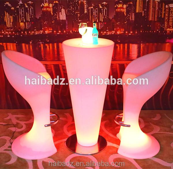 Nuevo diseño innovador LED tablesportable cóctel LED iluminado mesa ...