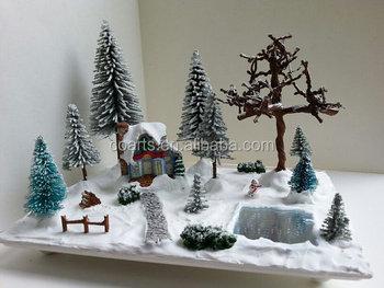 Miniature Christmas Village.Miniature Christmas Village Scene Miniature Christmas Vignette Buy Miniature Christmas Trees Christmas Decor Winter Decor Product On Alibaba Com
