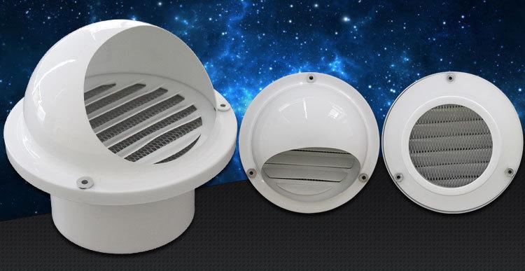 Hvac Ventilation Wall Mounted Waterproof Mushroom Aluminum