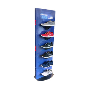 Pop paper cardboard advertising shoe store display rack for sale