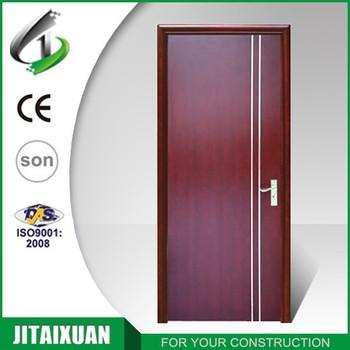 MDF Semi Solid Veneer Wooden Flush Doors Design
