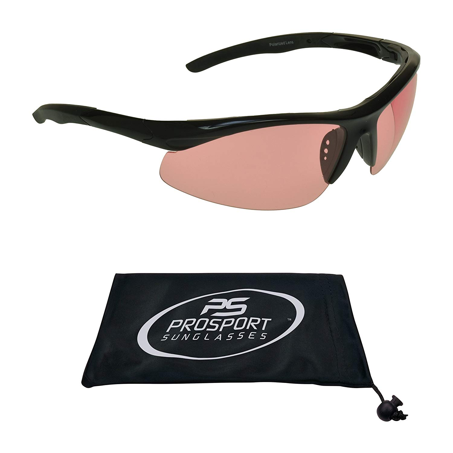2a10614382 Get Quotations · TR90 Polarized Sunglasses Pink lens or HD Vision.  Unbreakable and Light weight Semi Rimless