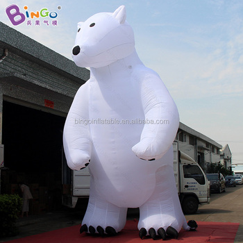standing inflatable polar bear balloon for christmas decoration supplies